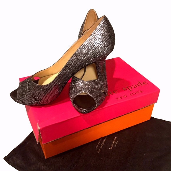 "8fbe2a5a6379 Kate Spade Shoes - Kate Spade ""Billie"" Open Toe Heels-EUC-Sz"